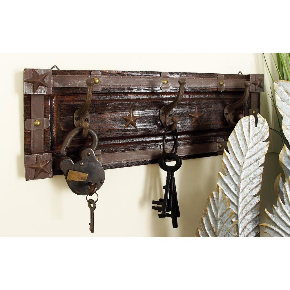 21 in. W x 8 in. H Wood and Iron Wall