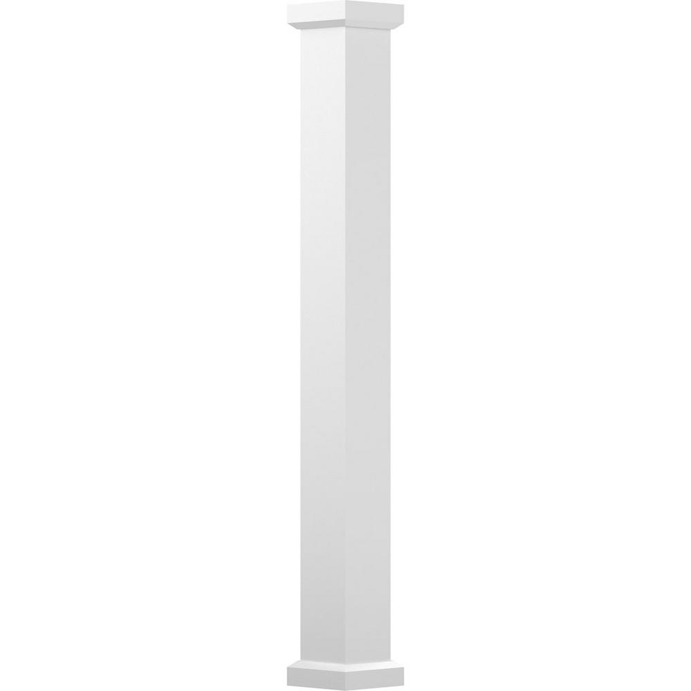 AFCO 9 in. x 10 ft. Gloss White Non-Tapered Square Shaft (Load-Bearing) Endura-Aluminum Empire Style Column
