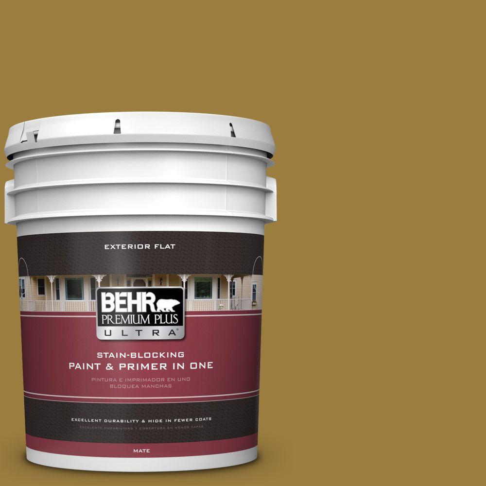 BEHR Premium Plus Ultra 5-gal. #S-H-380 Burnished Bronze Flat Exterior Paint