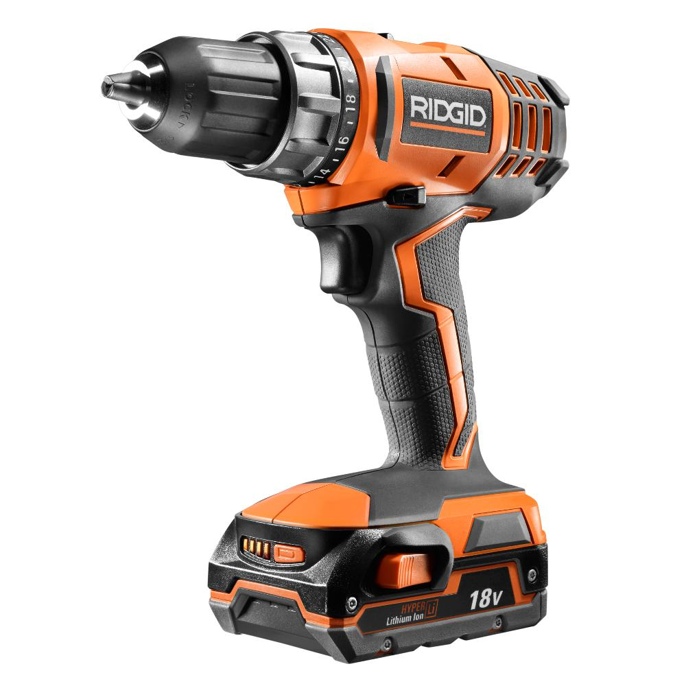Ridgid 18-Volt Cordless Lithium-Ion 1/2 in. Compact Drill...