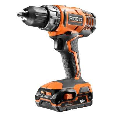 18-Volt Cordless Lithium-Ion 1/2 in. Compact Drill/Driver Kit with (1) 1.5Ah Battery and Charger
