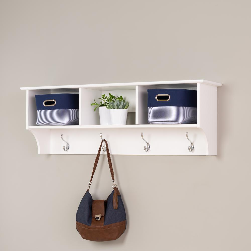 Prepac Monterey Wall-Mounted Coat Rack in White