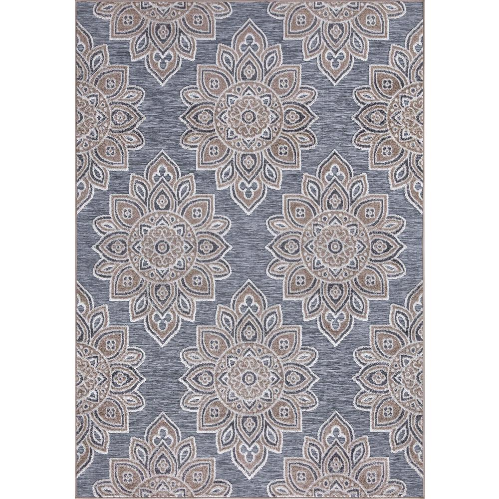 Stylewell Lara Gray 5 Ft X 7 Ft Geometric Indoor Outdoor Area Rug 28045 The Home Depot