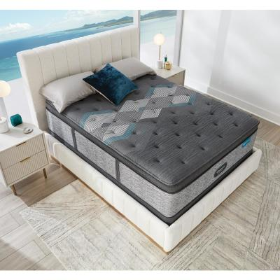 Harmony Lux HLD-2000 17.5 in. Plush Hybrid Pillow Top King Mattress with 9 in. Box Spring Set
