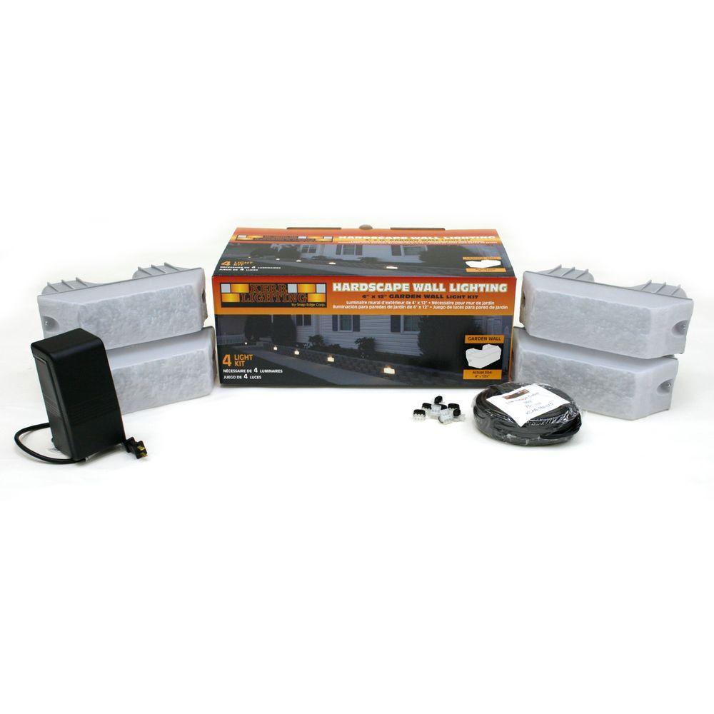 Hardscape Garden Wall Light Kit (4-Pack)