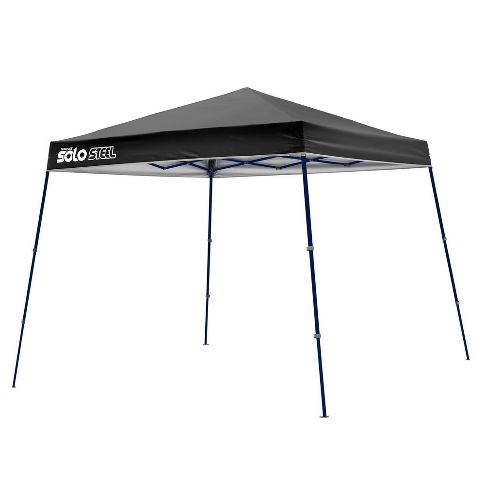 50 ft. x 9 ft. Black Slant Leg Pop-Up Instant Canopy by