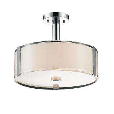 Lucie 4-Light Chrome Chandelier with White shade