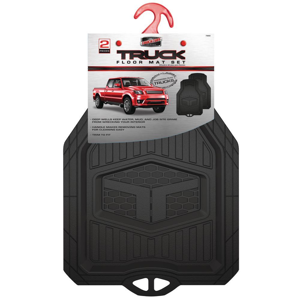 Custom Accessories Truck Tuff 2-Piece Black Truck Floor