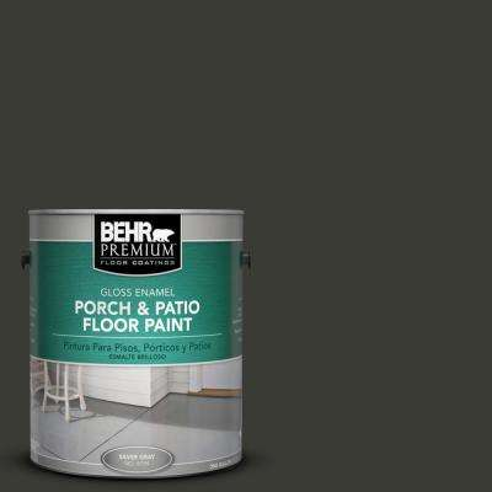 1 gal. #ECC-10-2 Jet Black Gloss Interior/Exterior Porch and Patio Floor Paint