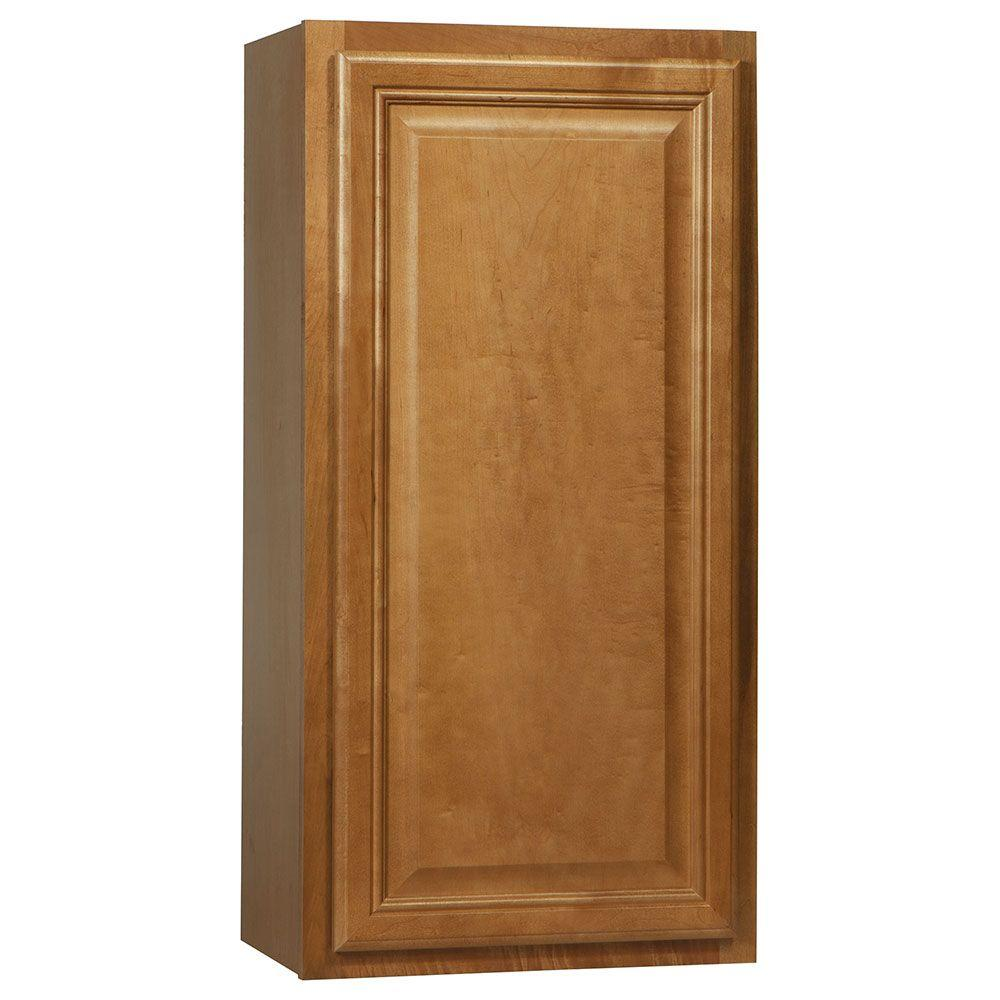 Hampton Bay Cambria Assembled 18x36x12 in. Wall Kitchen Cabinet in Harvest