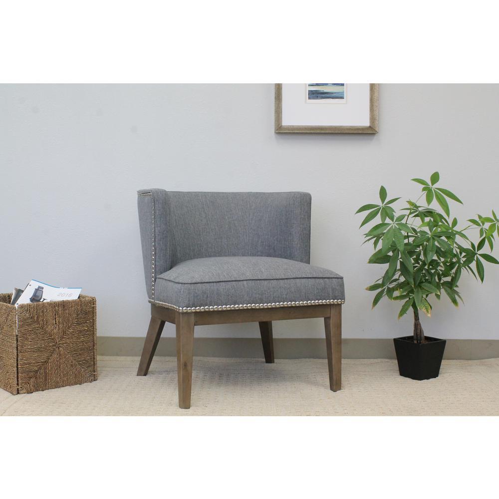 Boss Medium Grey Ava Accent Chair by Boss