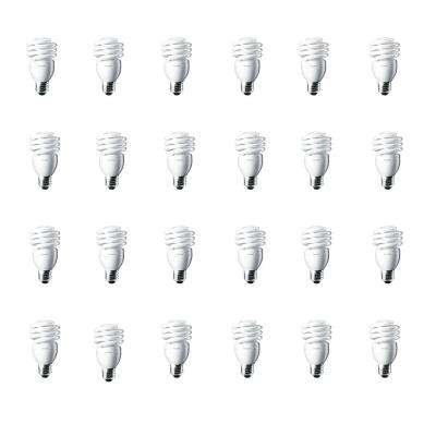 100-Watt Equivalent T2 CFL Light Bulb Daylight Deluxe Twister (24-Pack)