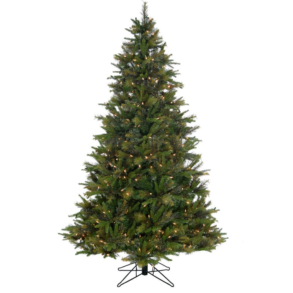 Multi Color Pre Lit Christmas Trees: Fraser Hill Farm 9.0 Ft. Pre-Lit Bayberry Green Christmas
