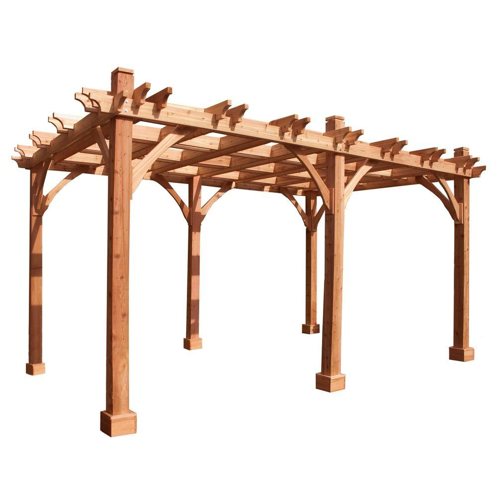 Outdoor Living Today Breeze Cedar 12 ft. x 16 ft. Pergola