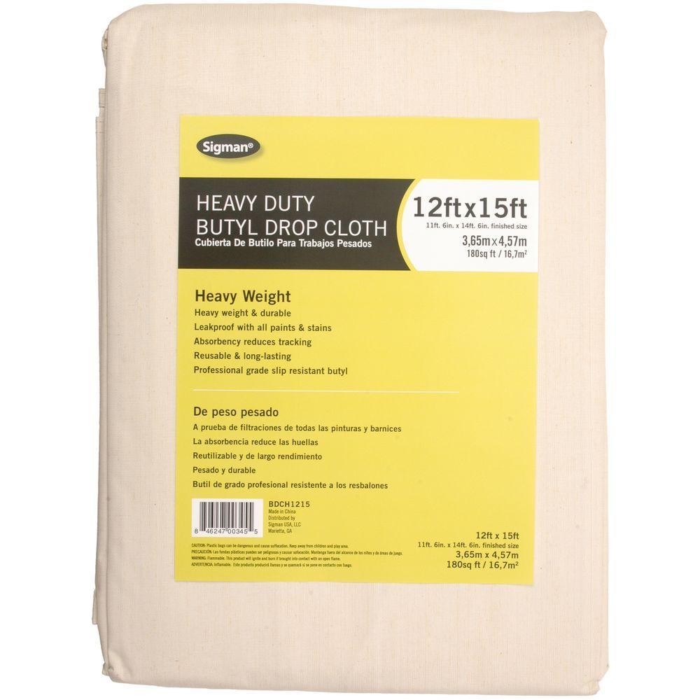 11 ft. 6 in. x 14 ft. 6 in. Heavy Duty Butyl Drop Cloth