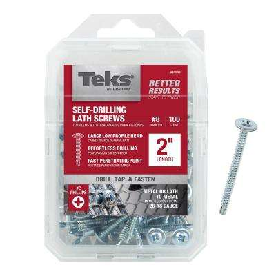#8-18 x 2 in. Lath Drill Point Screw (100-Pack)