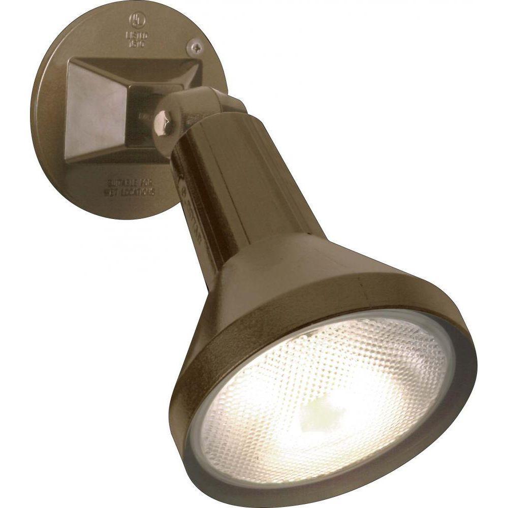 Tony 1-Light Dark Bronze Flood Light