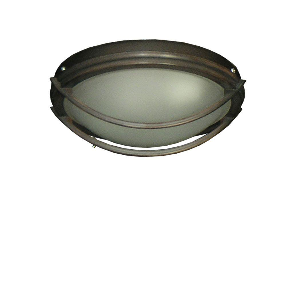 TroposAir 163 Low Profile Oil Rubbed Bronze Indoor/Outdoor Ceiling Fan Light