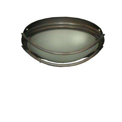 163 Low Profile Oil Rubbed Bronze Indoor/Outdoor Ceiling Fan Light