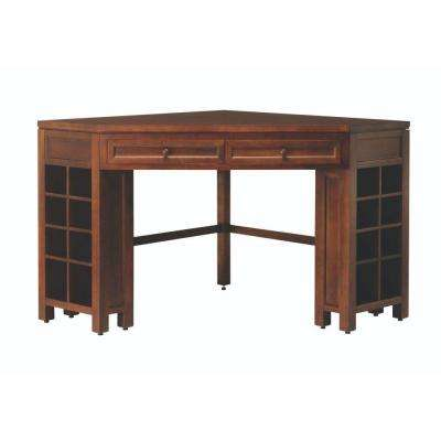 Craft Space 2-Drawer Open Cubby Corner Craft Table in Sequoia