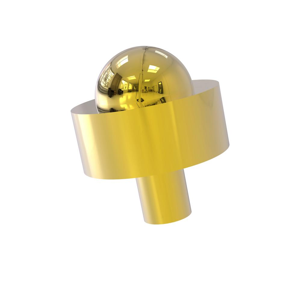 Allied Brass 1-1/2 in. Cabinet Knob in Polished Brass