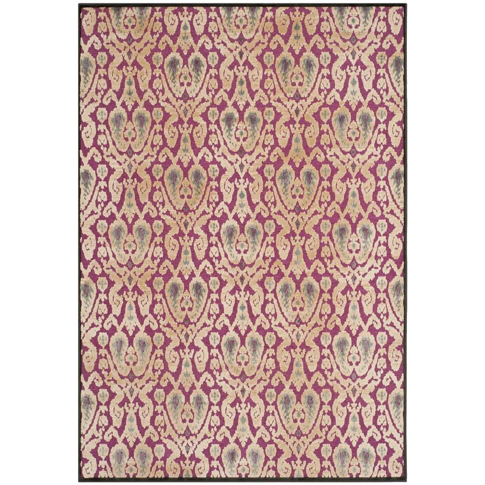 Paradise Anthracite/Fuchsia 8 ft. x 11 ft. 2 in. Area Rug