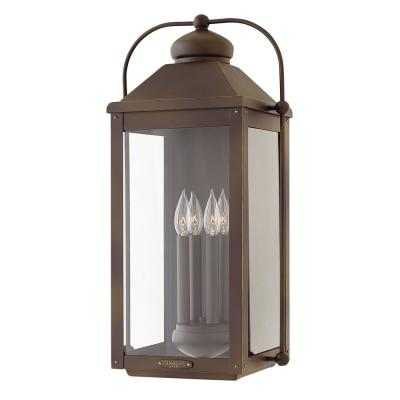 Anchorage Extra Large 4-Light Light Oiled Bronze Outdoor Wall Mount Lantern Sconce