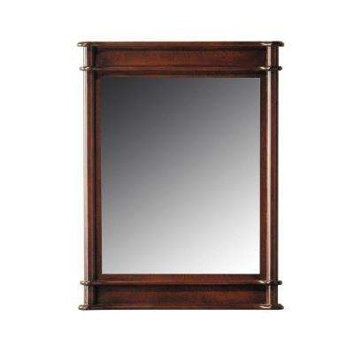 Essex 31 in. L x 24 in. W Wall Mirror in Shuffolk Cherry-DISCONTINUED