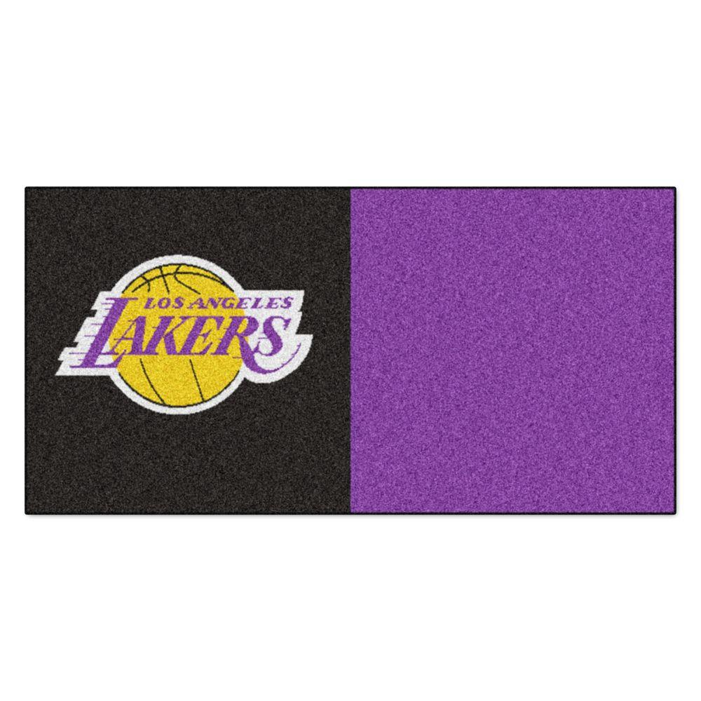 NBA Los Angeles Lakers Black and Purple Pattern 18 in. x