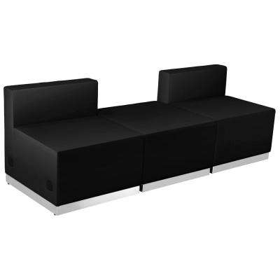Hercules Alon Series Black Leather Reception Configuration, 3 Pieces