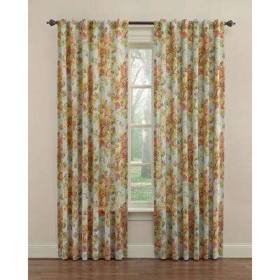 Spring Bling Window Curtain Panel in Vapor - 52 in. W x 84 in. L