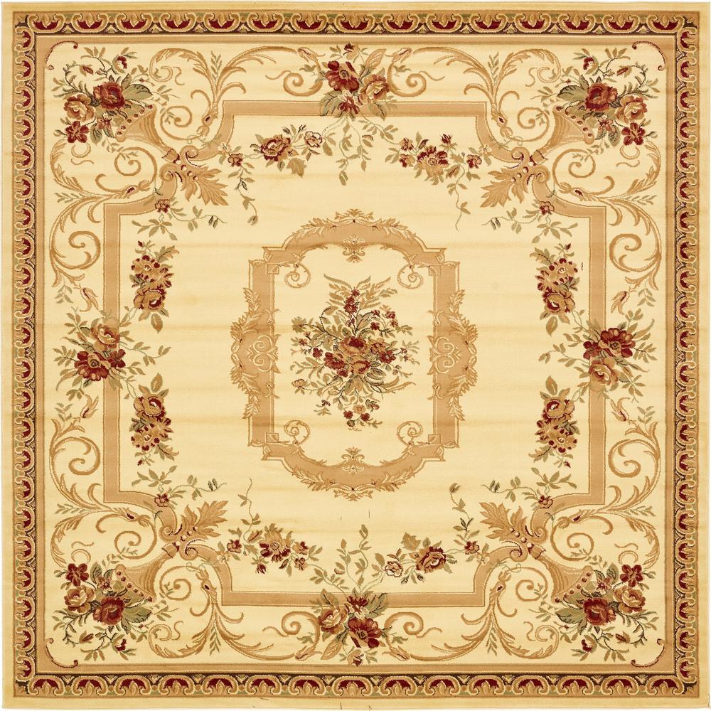 Versailles Cream 10' x 10' Square Rug