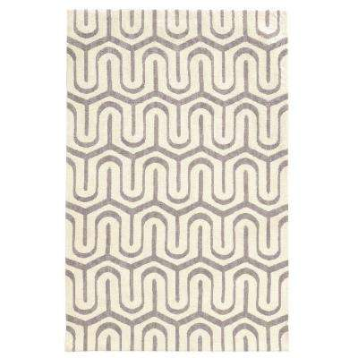 Geo Collection Grey/Ivory 8 ft. x 10 ft. Indoor Area Rug