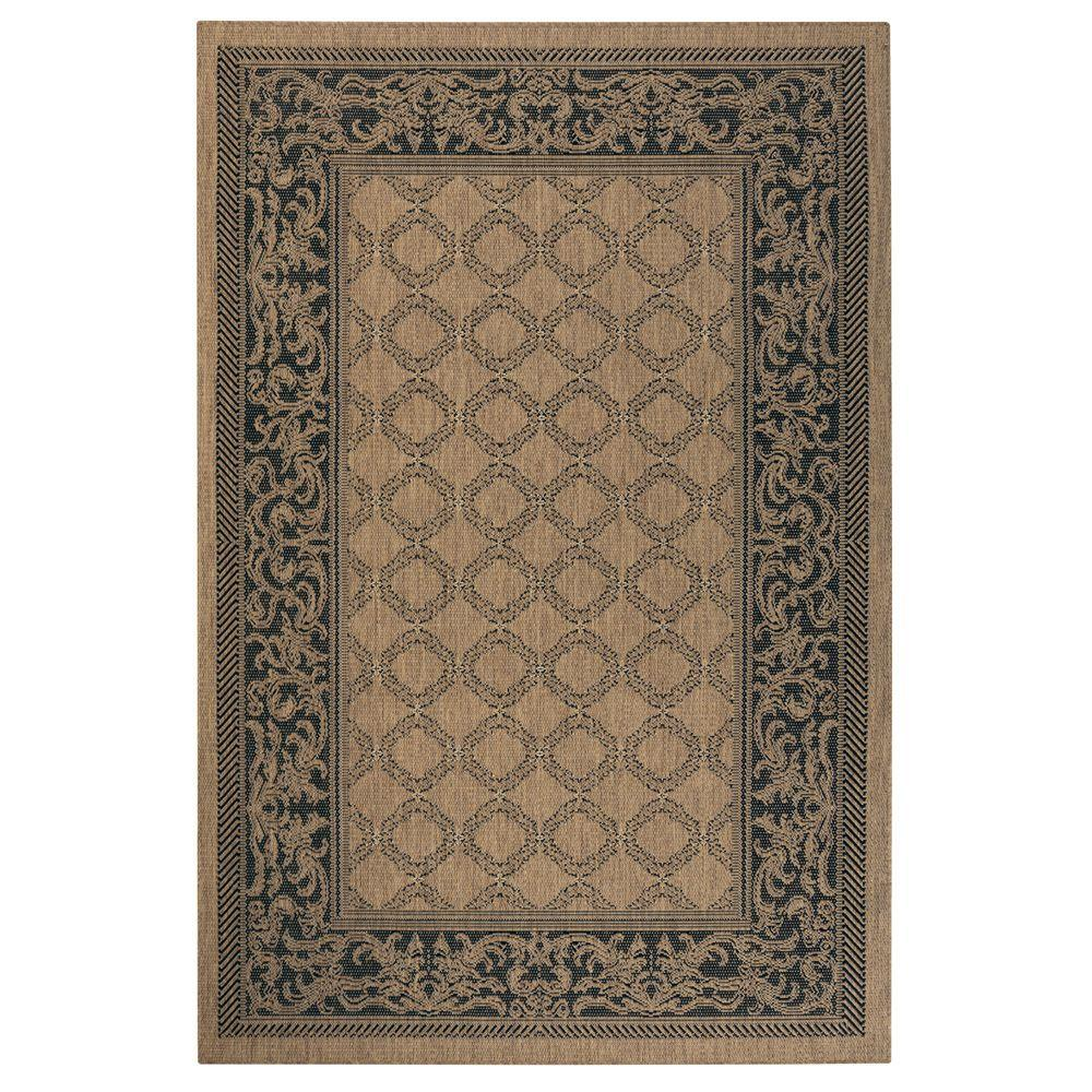 Entwined Cocoa/Black 5 ft. x 8 ft. Area Rug