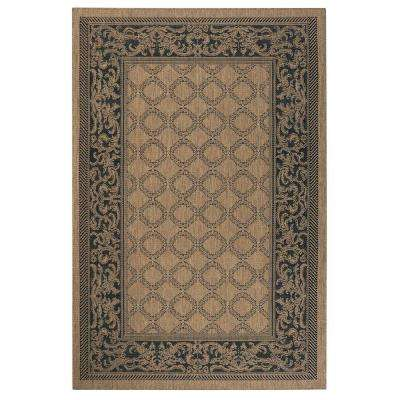 Entwined Cocoa/Black 8 ft. x 11 ft. Area Rug