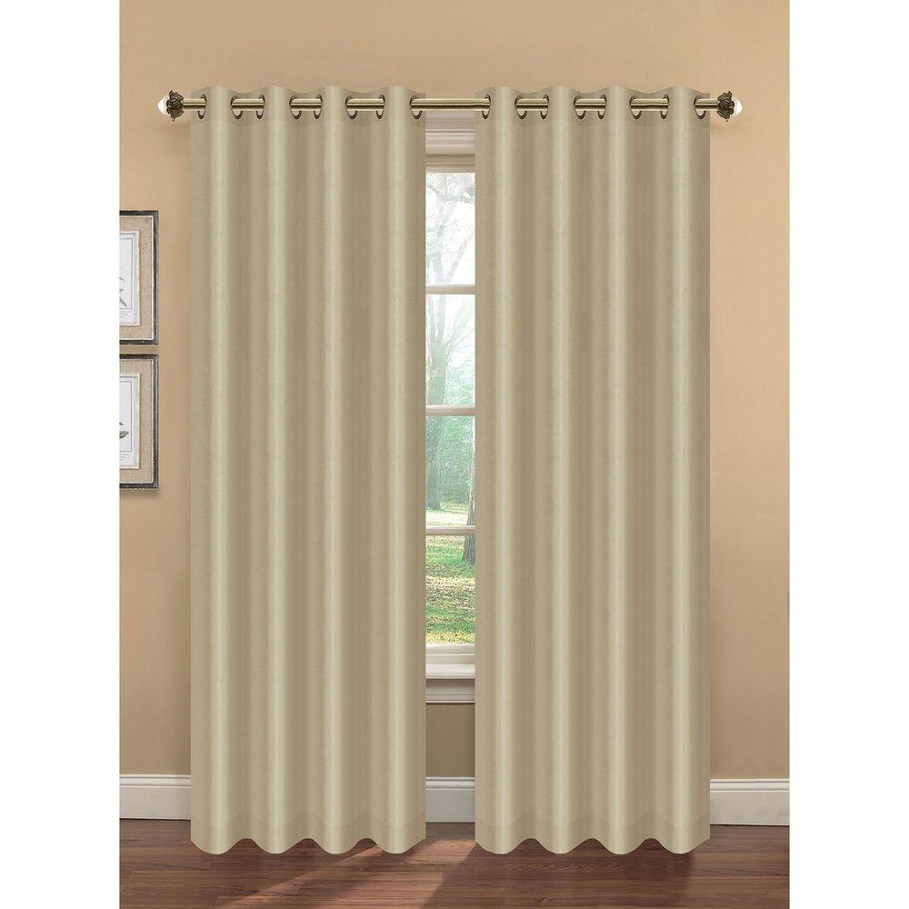 Semi-Opaque Camilla Faux Silk 84 in. L Extra Wide Room Darkening