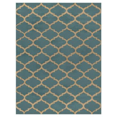 Contemporary Moroccan Trellis Light Blue 5 ft. x 7 ft. Area Rug