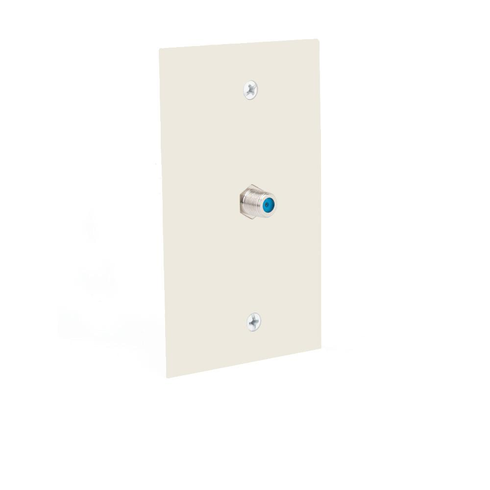 Cable Wall Plate Installation : Commercial electric coaxial cable wall plate light almond