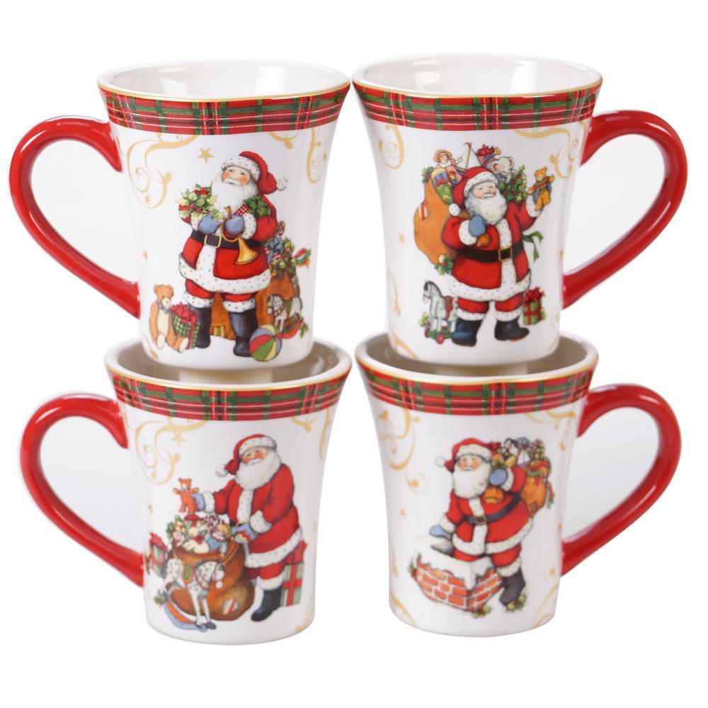 Certified International Christmas Presents Santa Ice Cream Bowl