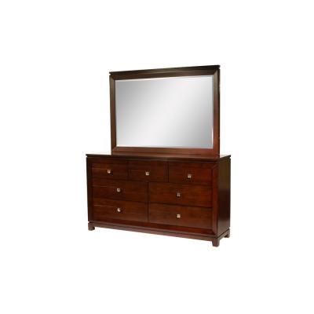 Easton 7-Drawer Cherry Dresser with Mirror