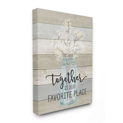 "16 in. x 20 in. ""Together is Our Favorite Place"" by Lettered and Lined Printed Canvas Wall Art"