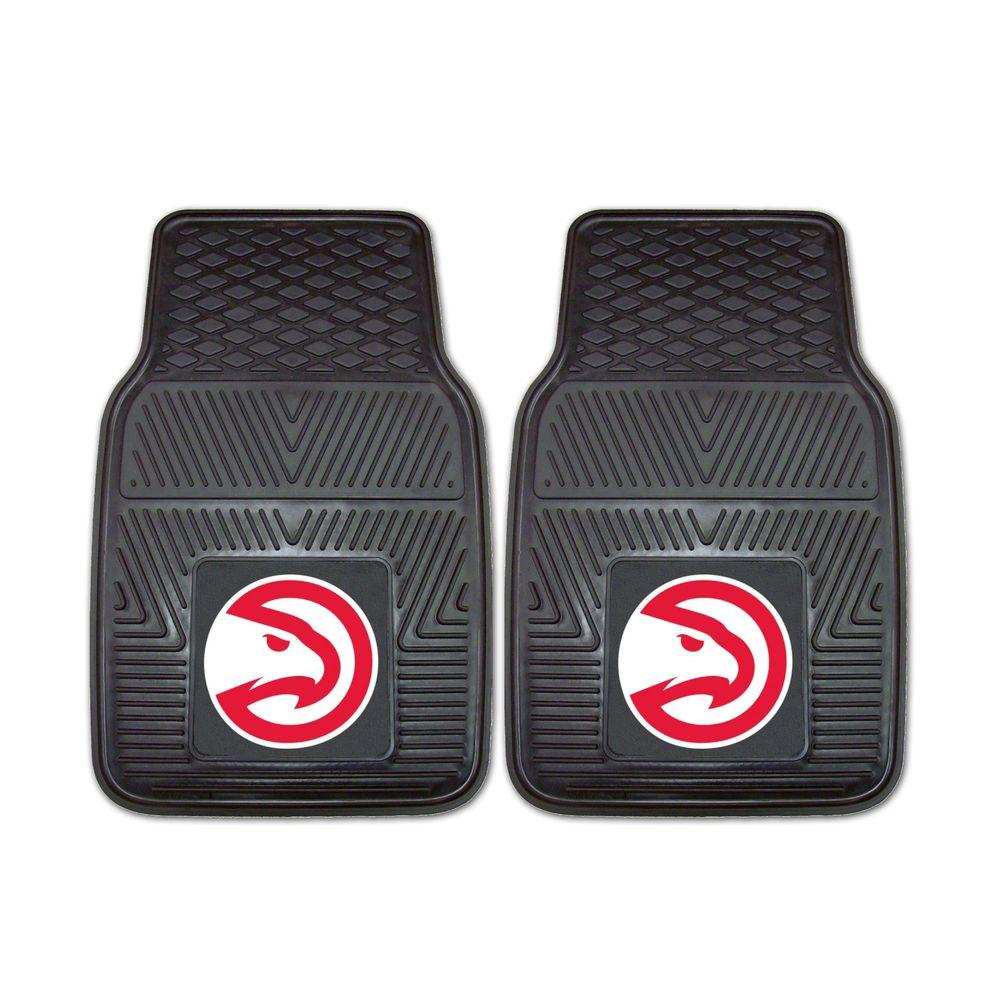 FANMATS Atlanta Hawks 18 in. x 27 in. 2-Piece Heavy Duty Vinyl Car Mat