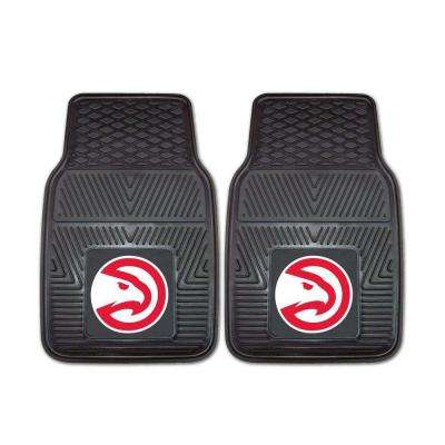 Atlanta Hawks 18 in. x 27 in. 2-Piece Heavy Duty Vinyl Car Mat