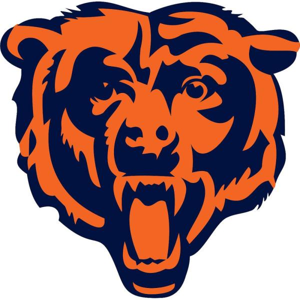 Chicago bears decal. In h x