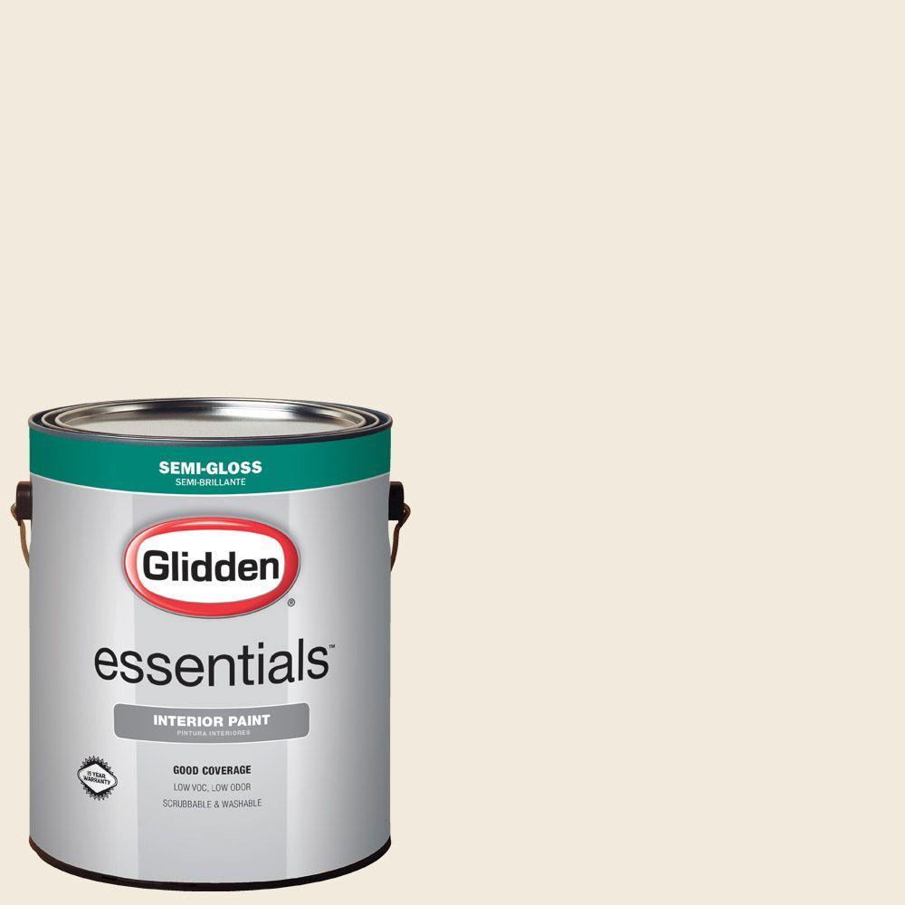 1 gal. #HDGWN41U Swiss Coffee Semi-Gloss Interior Paint