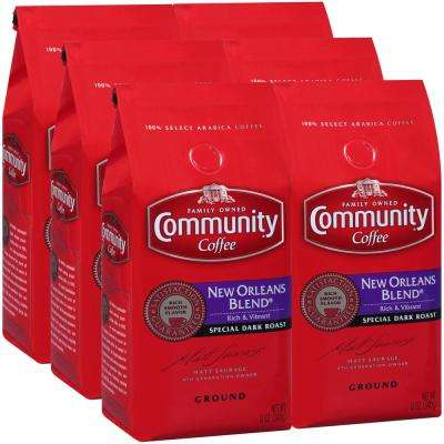 12 oz. New Orleans Blend Special Dark Roast Premium Ground Coffee (6-Pack)