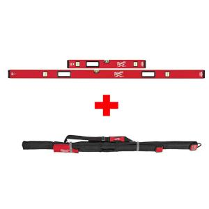 Milwaukee 78 in./32 inch REDSTICK Magnetic Box Level Jamb Set with 72 inch Soft Level Tool Bag by Milwaukee
