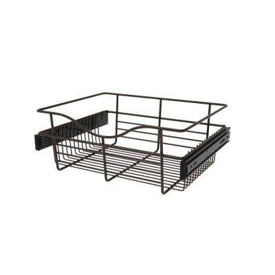 18 in. x 7 in. Oil Rubbed Bronze Pull-Out Basket