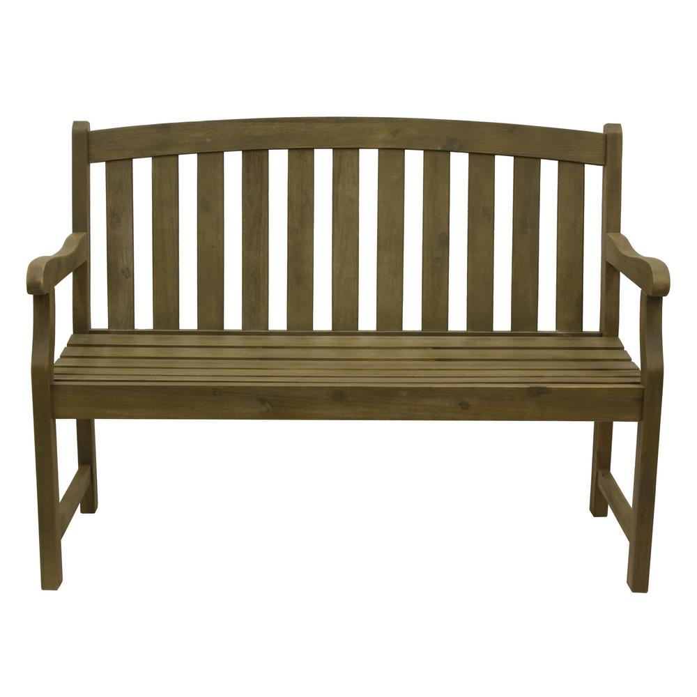 Marley 48 in. 2-Seat Green Wood Outdoor Bench
