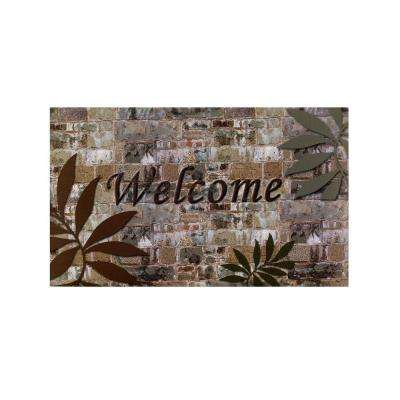 Welcome Palms 18 in. x 30 in. Rubber Entrance Mat